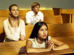 teens, church, prayer