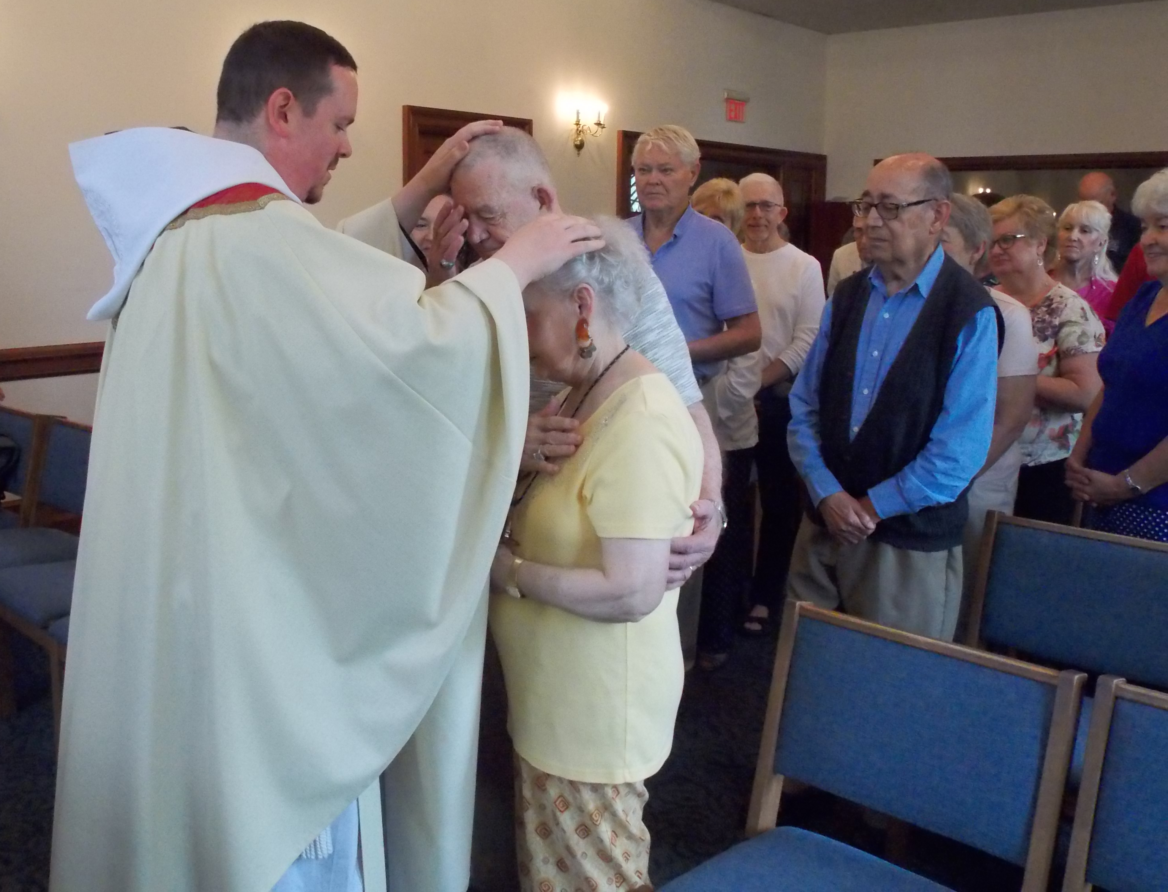Newly ordained Father Matthew Mary rejoices with hometown loved ones