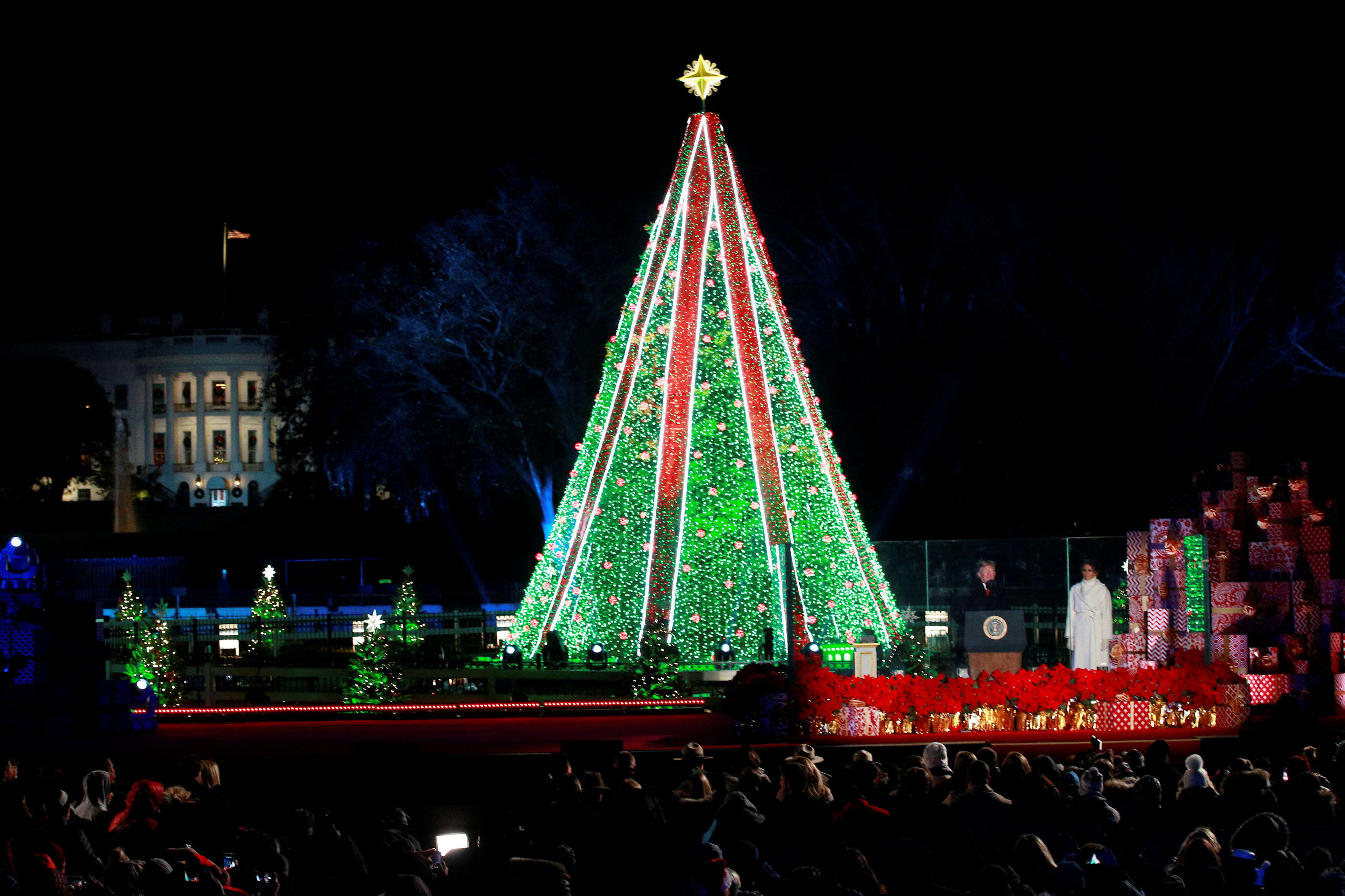 National Christmas Tree Lighting.Voices Of Sisters Rise As At National Christmas Tree