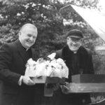 Bishop Mulvee and Msgr. Joseph F. Rebman.