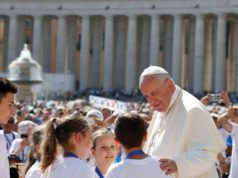 Pope Francis at St. Peter's Square at the Vatican